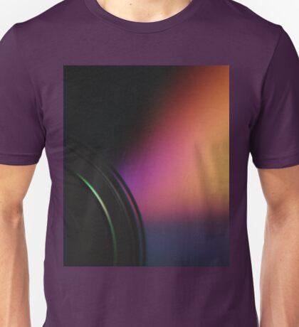 Closeup macro photo of shiny underside cd dvd disk Unisex T-Shirt
