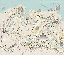 Skyrim Map by Sam Mobbs