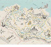 Skyrim Map by Sam Mobbs