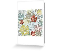 Floral retro pattern Greeting Card