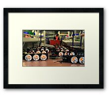 LED lights in manufacturing Framed Print