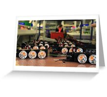 LED lights in manufacturing Greeting Card