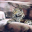 """Leopard Lounging"" by Burke Higgins, Jr."
