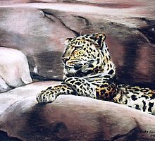 """Leopard Lounging"" by Burke Higgins, Jr."