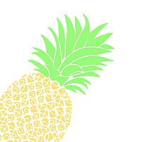 Bright Pineapple Pineapples Traditional Pastel Yellow Green  by CanisPicta