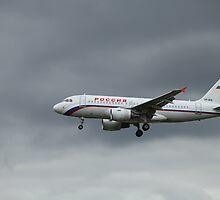 airliner flight in the sky by mrivserg
