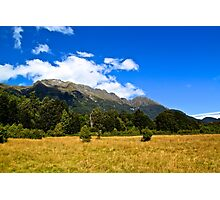 Blue Clear Sky Moutains, HD Photograph Photographic Print