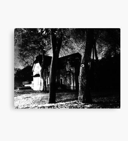 Alone night film grain #4 Canvas Print