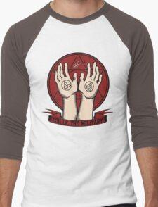 Dog of the Military: Crimson Men's Baseball ¾ T-Shirt