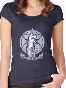 Dog of the Military: Flame Women's Fitted Scoop T-Shirt