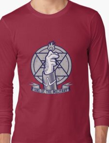 Dog of the Military: Flame Long Sleeve T-Shirt