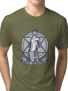 Dog of the Military: Flame Tri-blend T-Shirt