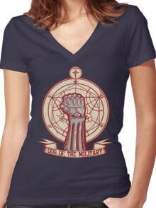 Dog of the Military: Full Metal Women's Fitted V-Neck T-Shirt