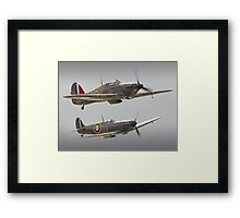 Hurricane And Spitfire Battle Of Britain Framed Print