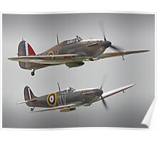 Hurricane And Spitfire Battle Of Britain Poster