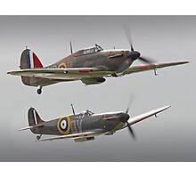 Hurricane And Spitfire Battle Of Britain Photographic Print