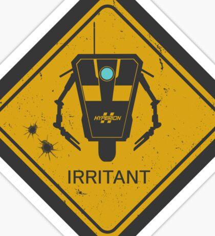 Caution: Irritant Sticker