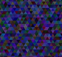 seamless pattern of colored triangles blue and other color by Ann-Julia