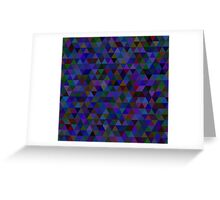 seamless pattern of colored triangles blue and other color Greeting Card