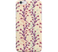 Pattern with plants iPhone Case/Skin