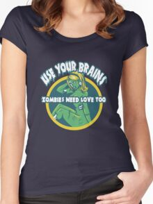 Use Your Brains Women's Fitted Scoop T-Shirt