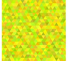 seamless pattern of colored triangles yellow and other color Photographic Print