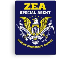 Zombie Emergency Agency Canvas Print
