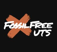 Fossil Free UTS (on black) Kids Clothes