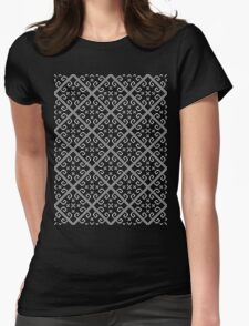 Retro Traditional Motive Womens Fitted T-Shirt