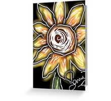Night of the sunflowers Greeting Card