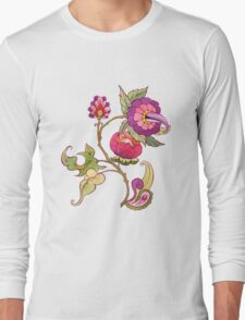 Fantasy garden, watercolor painted flowers Long Sleeve T-Shirt