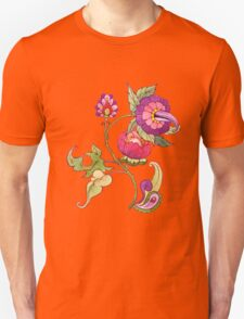 Fantasy garden, watercolor painted flowers Unisex T-Shirt