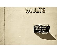 Vault dwellers assemble here Photographic Print