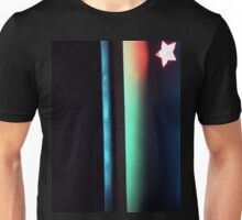 Abstract dark photo of star and lines on blackness silver gelatin color 35mm negative analog film photo  Unisex T-Shirt