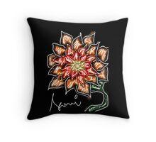 Evening chrysanthemum Throw Pillow