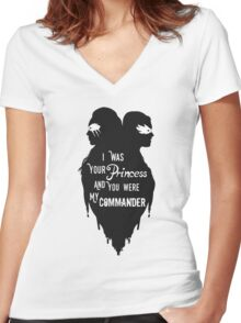 Silhouettes - Princess Commander Women's Fitted V-Neck T-Shirt