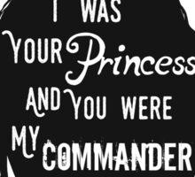 Silhouettes - Princess Commander Sticker