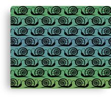 Pattern with snails Canvas Print
