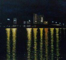 Las Olas At Night by Ken Pratt