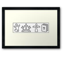Salvation Icons Framed Print