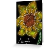 Sunflower at Night Greeting Card