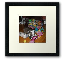 Isabelle and her Toys Framed Print