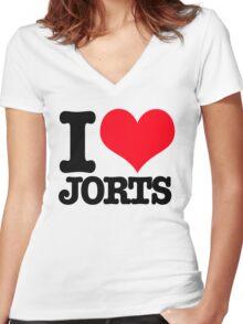 I <3 Jorts Women's Fitted V-Neck T-Shirt