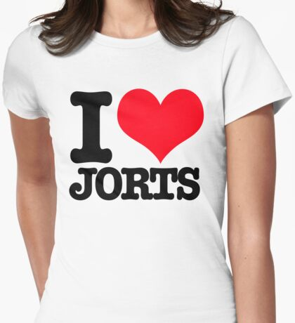I <3 Jorts Womens Fitted T-Shirt
