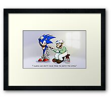 Blue Arms In A Rush Framed Print