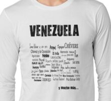 Venezuela en letras 2 Long Sleeve T-Shirt