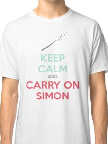 Keep Calm and Carry On Simon (Multi-Color Text) Classic T-Shirt
