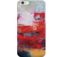 Abstract Red Blue Print from Original Painting  iPhone Case/Skin