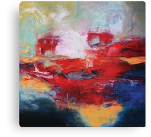 Abstract Red Blue Print from Original Painting  Canvas Print