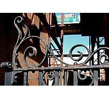 Rusty gate in Dublin Photographic Print